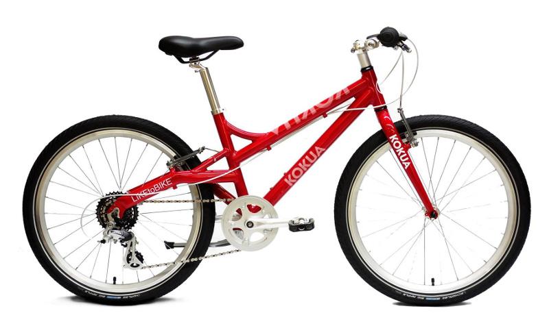 Rower dla dzieci KOKUA LIKEtoBIKE, koła 24 cale, kolor czerwony