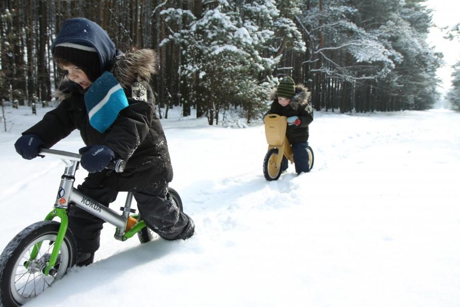 rowerki biegowe zimą