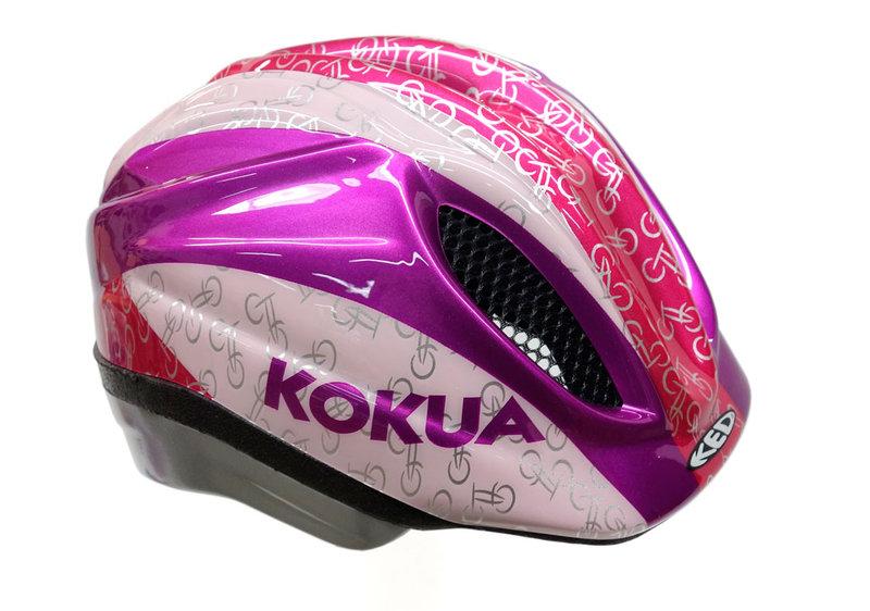 dziecięcy kask rowerowy kolor różowy